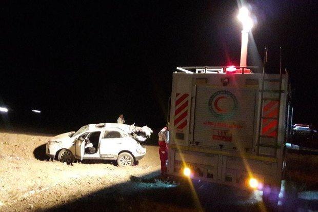 واژگونی خودرو در محور ایوانکی-گرمسار، یک نفر جان باخت