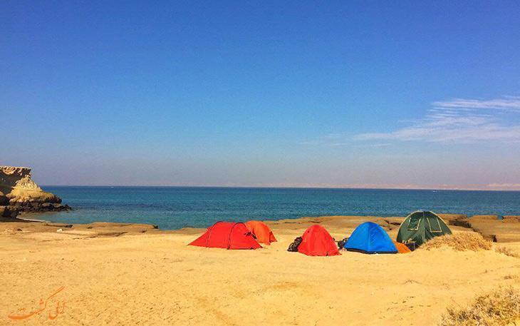 کمپ و چادر زدن در جزیره هرمز ممنوع شد!