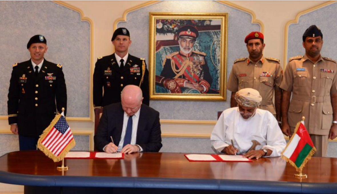عمان و آمریکا توافقنامه نظامی امضا کردند