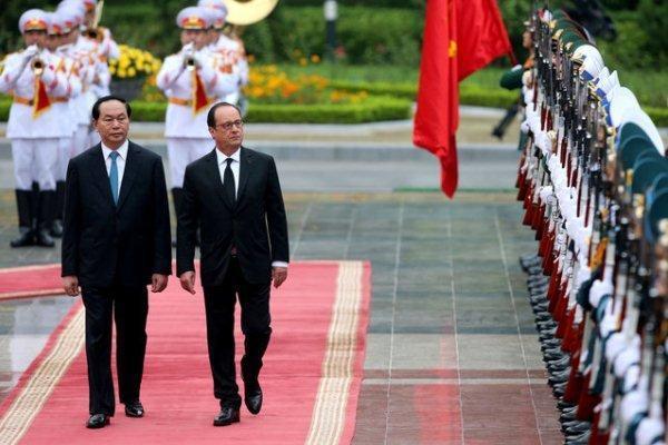 اولین سفر رئیس جمهور فرانسه به ویتنام در 12 سال اخیر