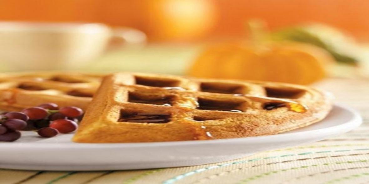 طرز تهیه وافل کدوحلوایی برای صبحانه