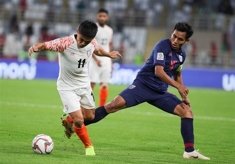 جام ملت های آسیا، تساوی تایلند و هند در نیمه اول