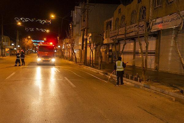 ضدعفونی معابر پر تردد شهر زاهدان