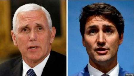 اختلاف های تجاری محور ملاقات نخست وزیر کانادا با معاون رییس جمهوری آمریکا
