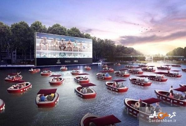 پاریس رودخانه سن را به یک سینمای شناور تبدیل می نماید! تصاویر