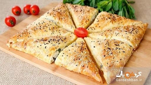 بورک سبزیجات یک غذای فوری و خوشمزه ترکیه ای