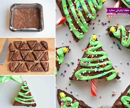آموزش تزیین درخت کریسمس از نوع براونی شکلاتی