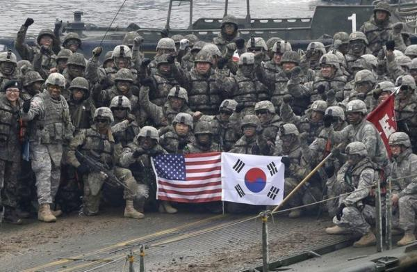 تدارک آمریکا و کره جنوبی برای برگزاری رزمایش مشترک در بهار